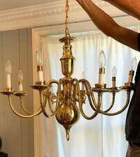 Livex Lighting 5007 Brass Williamsburg 8-Light 1 Tier Chandelier