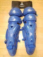 "Adidas Pro Series Baseball / Softball 15.5"" Catcher's Leg Guards 2.0 Blue S98305"