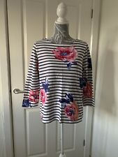 Joules Harbour Top Size 14 Rose Stripe