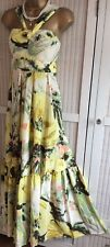 TED BAKER* Ugusta Size 3 10 12 Silk Floral Maxi Pastel Dress Party Wedding