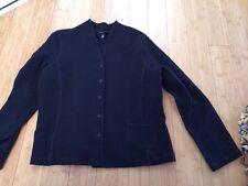 Eileen Fisher Black Womens Ladies Waffle Blazer Jacket Sz XL Msrp $398 Must See!