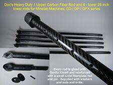 Doc's Heavy Duty Upper Carbon Fiber rod plus 4 heavy duty lower rods Minelab