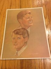 1968 President John F. Kennedy & Robert F. Kennedy Lithograph Sanger Picture JFK
