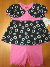 INFANT GIRLS 2PC GEOMETRIC SHORT SLEEVE TOP &  SHORTS  SIZE 12 MONTHS  NWT