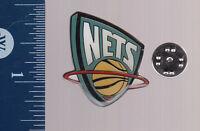 NEW JERSEY NETS NBA Basketball Team LAPEL PIN Logo Metal Pinback