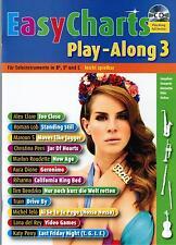 Bläser in Bb, Es und C Noten : EASY CHARTS 3 - mit CD playalong - leMittel