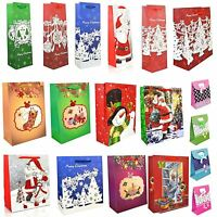 CHRISTMAS GIFT BAGS LUXURY STYLE DECORATIVE SMALL | LARGE | MEDIUM ALL OCCASIONS