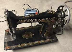 "Antique Singer Model 66 ""Red Eye"" Sewing Machine"