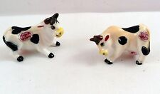 Acme China Cows Set of 2 Figurines Japan Silver Red Label Miniature