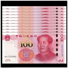 China 100 Yuan, 2015, With Security Thread, 10pcs Running Number (PERFECT UNC)