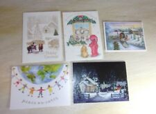 Lot of 12 Assorted Greeting Cards - All Christmas Happy Holidays Season Greeting