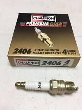 Box of (4) Champion Premium Gold Spark Plugs No. 2406, Equivalent to NGK UR4