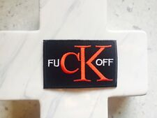 F Off Swear Word CK Warning Attitude Street  Embroidered Iron On Patches Patch