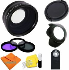 Sports Action Fisheye + Macro Lens+ Accessories Kit For Canon Rebel Eos Cameras