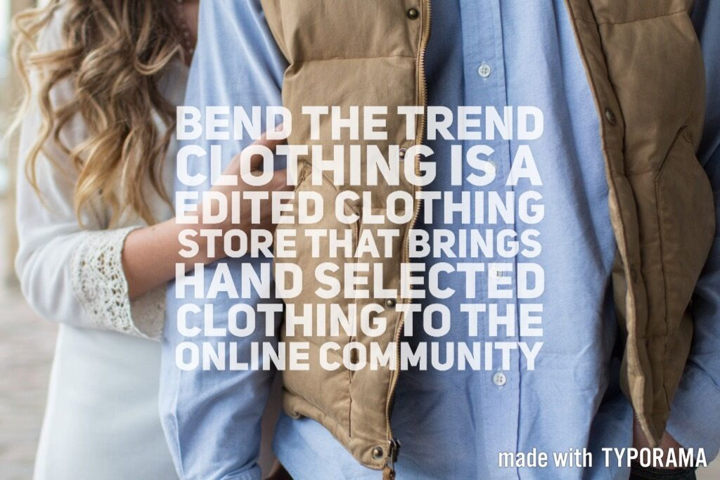 bend the trend clothing