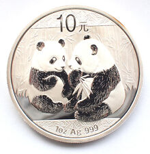 Chinese Silver 2009 PANDA 10 Yuan - Very Rare 999 1oz Bullion Coin
