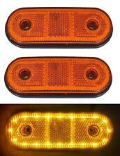 2x LED 12V 24V Orange Seitenmarkierungsleuchten Lkw Anhänger Bus Wohnmobil