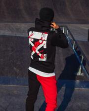 Hoodie Unisex in style Off White Cross Fire Black  XL