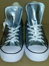 Converse Chuck Taylor All Star Hi Top Silver Metallic Unisex Shoes NEW Size:11.5