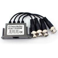 2 Pcs 4 CH Passive CCTV Camera UTP BNC Video Balun Transceiver Rj45 CAT5 Cable