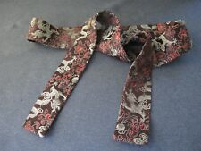 Vintage Chinese embroidery dragons & flowers long silk belt