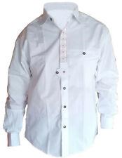 Trachtenhemd Baumwolle edelweiß bestickt, Farbe Weiß