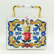personaliy handmade flower box purse evening wedding bridal party handbag