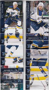15/16 UD Series 1 & 2 St. Louis Blues Team Set - Tarasenko Elliott +