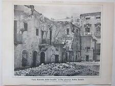 1862 PALERMO CASA DISTRUTTA PIAZZA LUMIA litografia Terzaghi Spedizione mille