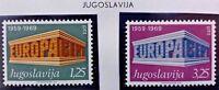 2 X Timbre Stamp Yougoslavie Jugoslavija 1969 YT 1252 1253 EUROPA CEPT Neufs