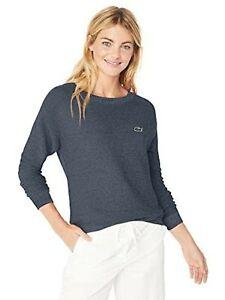 LACOSTE WOMENS CREW NECK M-M PARIS L//S SWEATER//JUMPER FR36 UK8 RRP:£165