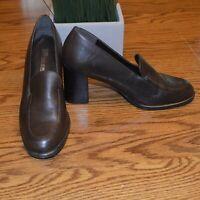 Bruno De Milano Womens Brown Block Heel Loafers Size 6.5 M EUC Made in Brazil