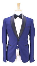 NWT New ARMANI COLLEZIONI Current Cobalt Blue 1-Btn Shawl Tuxedo Suit 36R