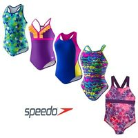 Speedo Big Girls One Piece Swimsuit,  Variety of Colors and Sizes Available