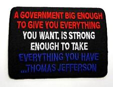 A Government Big Enough Patriot Biker Rebel Embroidered Patch Iron Sew PWPM5043