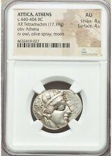 Attica Athens AR Tetradrachm - NGC AU 4/5 4/5 - c.440-404 BC Silver Ancient
