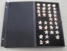 1984 OLYMPICS--SAM THE EAGLE PINS DISPLAY--LOT OF 34 PINS--XLNT