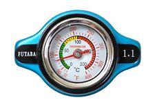 Radiator Cap 16 PSI Pressure Rating Futaba with Temperature Gauge 10242