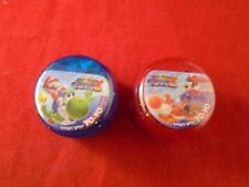 Super Mario Galaxy 2 Red and Blue Yo-Yo filled w/ Candy Mario Yoshi 2 yoyos!