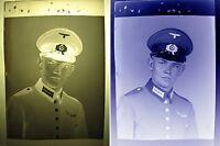 Foto Negativ Privataufnahme Potrait 2.WK-Partei-Militär Uniform-2. WK soldier-10