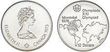 10 SILVER DOLLARS / 10 DÓLARES PLATA. 1973. CANADA. MONTREAL OLYMPICS. SC/UNC.