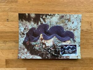 MARSHALL ISLANDS 1986 PHQ MAXI CARDS WWF GIANT CLAM