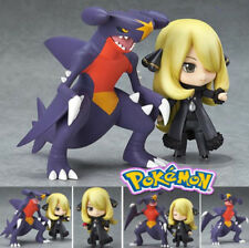 "3.9""Pocket Monster Shirona Cynthia Garchomp Kids Action Figure Figures Toys Set"