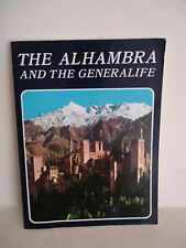 """""""The Alhambra and The Gereralife"""" Miguel Sanchez Editor 1990 S/C"""