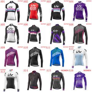Women's Cycling Jersey Long Sleeve Bike Tops Bicycle Shirts Maillots Jacket A42