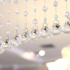 1M Clear Glass Crystal Strand Hanging Beads Curtain Diamond Room Door DIY Decor