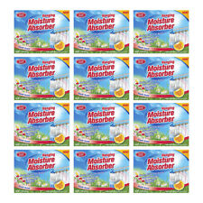 Home Select Moisture Absorber. No Musty Odors. Fresh Scent. 7.4 Oz. Pack of 12