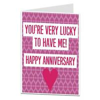 Funny Anniversary Card Husband Wife Girlfriend Boyfriend Love Alternative