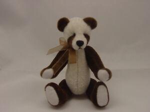 "World of Miniature Bears 4""  Plush Panda Bear Brown #872-BR CLOSING"