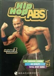 """Hip Hop ABS: Level 2 """"Includes 3 Workouts!"""" (2-Disc DVD 2007) ZERO SCRATCHES s11"""